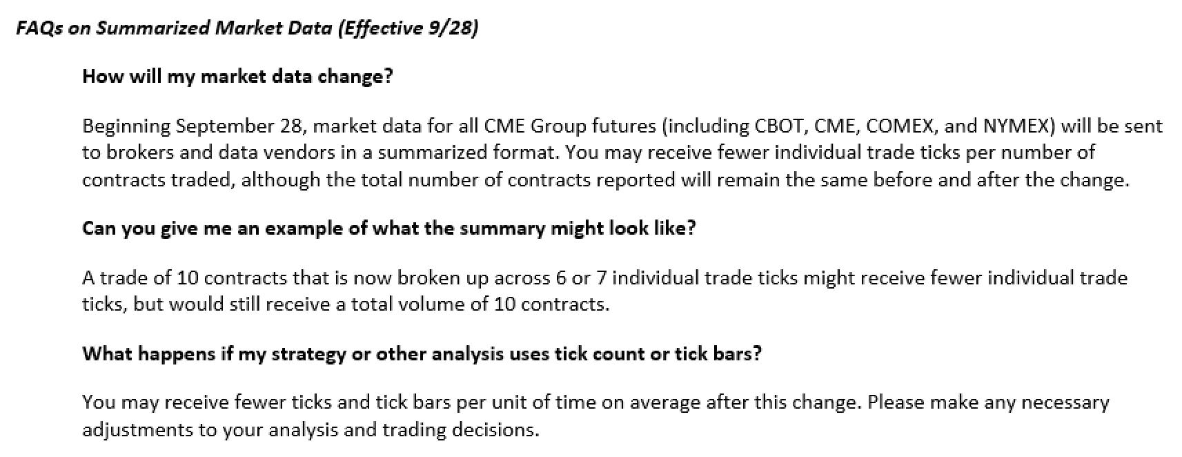 CME Changes Tick Data, Again! (MDP 3 0) | Emini-Watch com