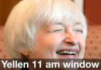Yellen Talks and the 11 am Window Shuts