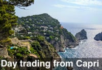 image of emini day trading from Capri Italy