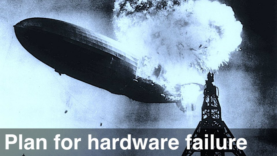 trading backup plan and planning for hardware failure